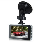 G2 3.0'' Car DVR HD Camera Recorder w/ Night Vision Gsensor - Black