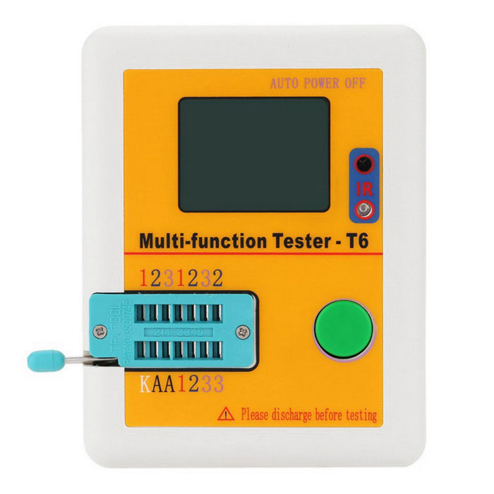 "Multi-funcional 2.5 ""Backlight Tester Transistor Diode LCD - Amarelo"