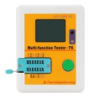 "Multi-functional 2.5"" LCD Backlight Diode Transistor Tester - Yellow"