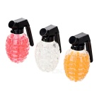 Crystal Soil Balls in Grenade Shaped Cases - White + Orange