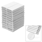 28 * 12 * 4mm Rectangular NdFeB Magnet - Silver (20PCS)