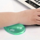 WP-01 Cool Heart-Shaped Soft Silicone Mouse Pad Wrist Prop - Green