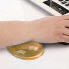 WP-01 Cool Heart-Shaped Soft Silicone Mouse Pad Wrist Prop - Orange