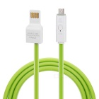 Micro USB OTG Data Transmitting / Charging Cable - Light Green + White