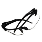 Men's Driving UV400 Protection Sunglasses Goggles - Black +Transparent