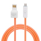 Universal Smart Flat Lengthen Cable w/ Indicator for Samsung / BlackBerry / Xiaomi + More (1m)