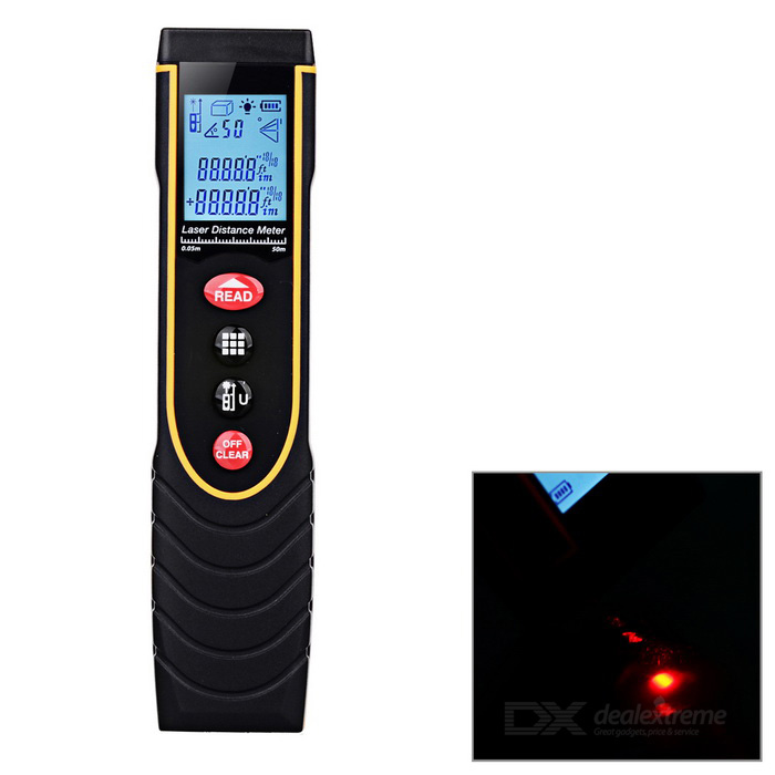 Pen Style Laser Range Finder Distance Meter - Black + Orange