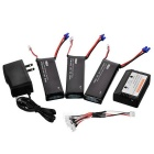 H501S-002 Batteries + 1-to-3 Charging Cable + Balance Charger - Black