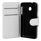Lychee Pattern Protective PU Case for Huawei Y330 - White