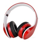 D-411 Bluetooth Headphone Headset w/ FM,Mic, TF Slot - Red