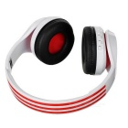 D-411 Bluetooth Headphone Headset w/ FM, Mic, TF Slot - White