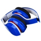 D-411 Bluetooth Headphone Headset w/ FM, Mic, TF Slot - Blue
