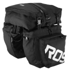 ROSWHEEL 3-in-1 Bicycle Rear Rack Bag Pannier Bag - Black + White