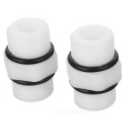 "1/2"" Water Pipe Hose Tube Quick Connector - White (2PCS)"