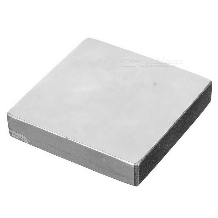 47 * 47 * 10mm Rectangular Rare Earth Permanent NdFeB Magnet - Silver