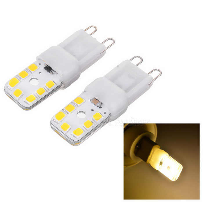 Lampadina JRLED G9 di Dimmable 3W piatto silicone LED bianco caldo (AC 220V / 2PCS)