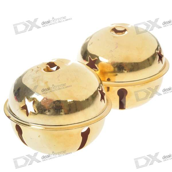 Golden Metal Round Ringing Bells (2-Pack)
