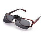 SENLAN 8801P2 Clip-on Polarized Lens Glasses - Grey + Black