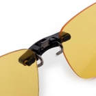 SENLAN 8802P3 Clip-on Polarized Lens Glasses - Yellow + Black