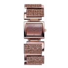 Weiqin 270.301 Dial Square Alloy Bracelet relógio de pulso banda - Brown