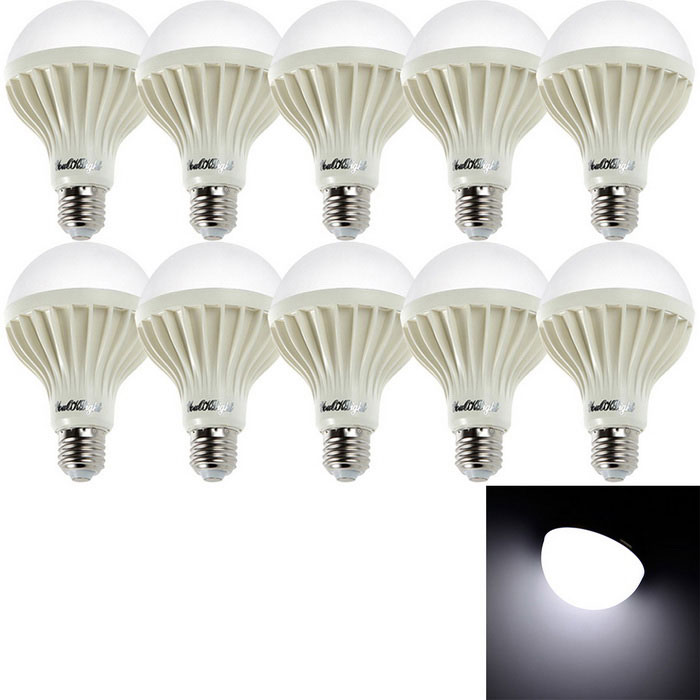 Youoklight YK0022 E27 12W lámparas blancas frías del bulbo del LED (220V / 10 PC)
