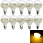 YouOKLight YK0023 E27 12W Warm White LED Bulb Lamps (220V / 10 PCS)