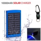 "SUNGZU ""10000mAh"" Dual USB Solar Power Battery Bank - Blue"