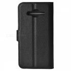 Litchi Grain PU Case w/ Stand for Samsung Galaxy J5 - Black