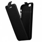 Up-Down Flip Open Protective PU Case for IPHONE 6 / 6S - Black