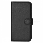 Litchi Grain PU Case w/ Stand, Card Slot for Samsung Galaxy S5 - Black