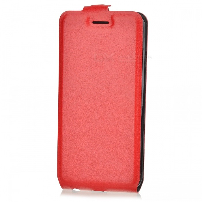 Up-Down Flip Open Protector PU Case para IPHONE 6 / 6S - Vermelho