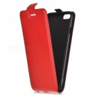 Up-Down Flip Open Protective PU Case for IPHONE 6 / 6S - Red