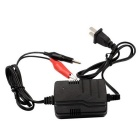 12V Rechargeable Battery Charger w/ LED Lamp Indicator - Black