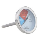 Stainless Steel BBQ Cooking Kitchen Oven Thermometer - Silver