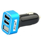 Jtron Dual USB Car Charger for Various Mobile Phones / Devices - Blue