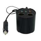 Tipo CUP Intelligent 3 Port USB Car Charger Adapter Power - Preto