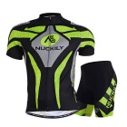 NUCKILY Outdoor Cycling Short Jersey + Short Pants Set - Green (XL)