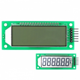 2.4 inch 6-Digit 7 Segment LCD Display Module Blue Backlit for Arduino