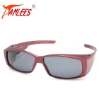 Panlees DE572 Outdoor Polarized Sunglasses - Matte Wine Red + Grey