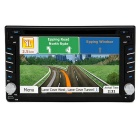 "Junsun 6.2"" HD Touch LCD 2-Din Car DVD + South America Map - Black"