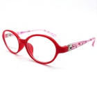 Children's Spring Flat Leg Myopia Plain Glass Picture Frame - Red