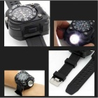 Outdoor Neutral White LED Display Silikon Band Taschenlampe - Schwarz