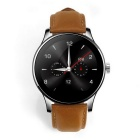 Eastor K88H Round Screen Leather Strap IP54 Smart Watch - Brown