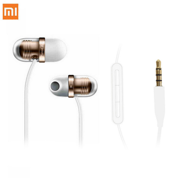 Xiaomi JNEJ01JY Capsule Earphone Piston Air écouteurs intra-auriculaires - or