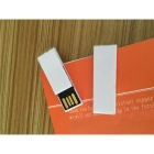 SAMDI Bookmark Shaped USB 2.0 Flash Drive - White (8GB)