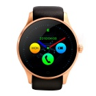 K88S Round Screen Bluetooth Smart Watch Support SIM Card -Black + Gold
