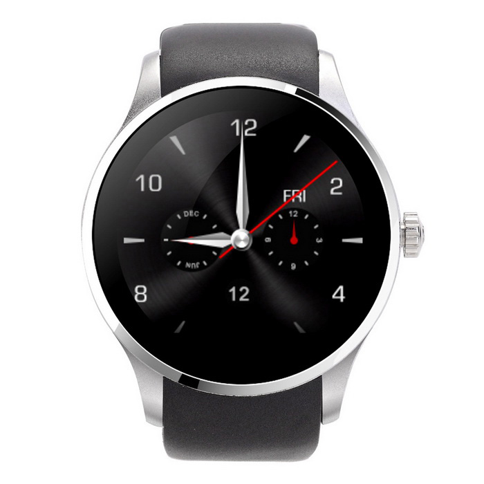 K88S Round Screen Bluetooth Smart Watch Support SIM Card -Black+Silver