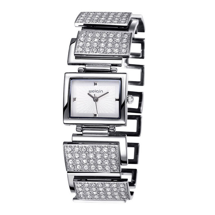 WEIQIN 270304 Square Shaped Dial Alloy Band Wrist Watch - SilverQuartz Watches<br>Form  Colorsilver silver surface 270304Model270304Quantity1 DX.PCM.Model.AttributeModel.UnitShade Of ColorSilverCasing MaterialAlloyWristband MaterialAlloySuitable forAdultsGenderWomenStyleWrist WatchTypeFashion watchesDisplayAnalogMovementQuartzDisplay Format12 hour formatWater ResistantFor daily wear. Suitable for everyday use. Wearable while water is being splashed but not under any pressure.Dial Diameter2.6 DX.PCM.Model.AttributeModel.UnitDial Thickness0.8 DX.PCM.Model.AttributeModel.UnitWristband Length20.6 DX.PCM.Model.AttributeModel.UnitBand Width2.6 DX.PCM.Model.AttributeModel.UnitBattery1 * S377Packing List1 * Watch<br>