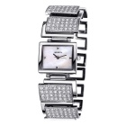 WEIQIN 270305 Square Shaped Dial Alloy Band Wrist Watch - Silver