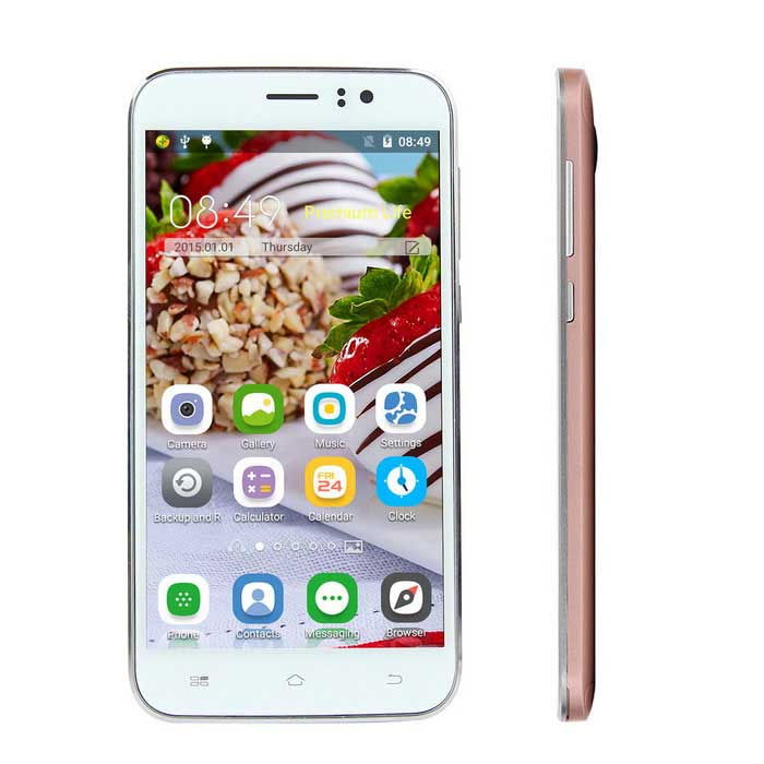 "I8 Android 5.1 Smartphone w/ 5.0"" Screen, 1GB RAM, 8GB ROM - Rose Gold"